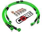 Core Moto - Kawasaki ZX6R 2009-2012 Performance Brake lines Front and Rear Combo - Kawasaki Green