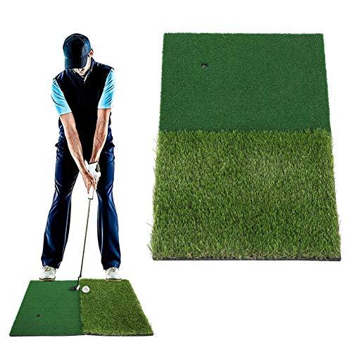 jadenzhou Alfombra de Golf 2 en 1, césped de Entrenamiento de Golf Ligero para Juegos de Golf para práctica de Golf para Jugadores de Golf para Deportes al Aire Libre