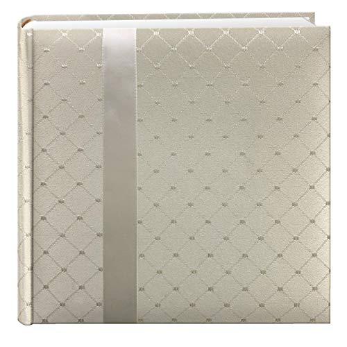 Pioneer DA200FDR Fabric Diamond Ribbon Wedding Photo Album, Holds 200 4x6' Photos, 2 Per Page Color May Vary