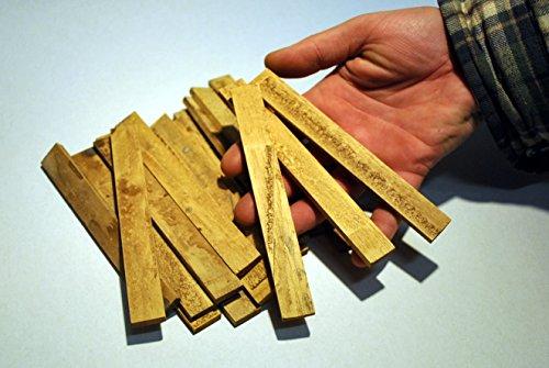 menta-modellbau 22 x Holzdielen 15 cm, Krippenbau, Pferdestall selber bauen