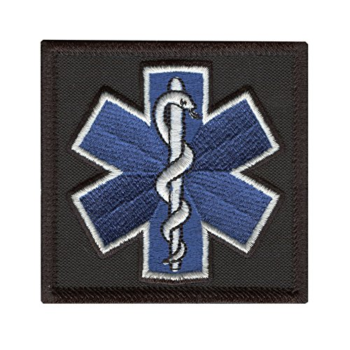 2AFTER1 EMS EMT Star of Life Paramedic Medical Morale Tactical Army Gear Hook&Loop Patch