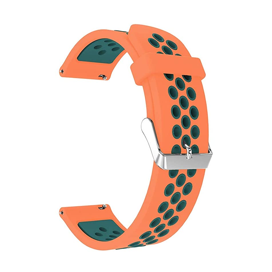 WWFFOO Smart Watch Bands 20MM Silicone Sport Quick Release Watch Strap Wristband Soft Replacement Band with Ventilation Holes Compatible for Samsung Galaxy Watch Active for Men Women (Orange)