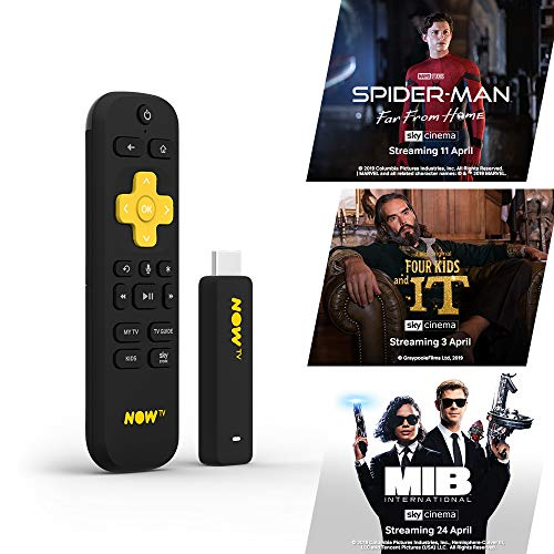 NOW TV Smart Stick with 1 month Sky Cinema Pass | HD Streaming Media Player – Watch Disney+, YouTube, Netflix, BBC iPlayer and more
