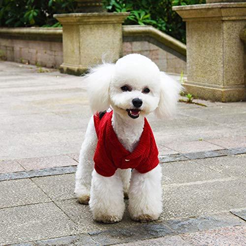 FORMEG Vestiti per Animali Domestici Cane Bel Cane Vestiti Coccinella Modello Inverno Pet Giacca Corta Puppy Pet Outfit Cappotto per Cani Costume per Chihuahua Bulldog Francese