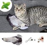 ▶▶【Jouet Chat Poisson Qui Bouge】 2021 amélioré emballage inclus: 1 × jouet de poisson flottant, 1 × câble usb, 1 paquet de cataire. Poisson pour chat qui bouge, a un aspect réaliste, remuant automatiquement lorsque vous le touchez, parfait pour mordr...