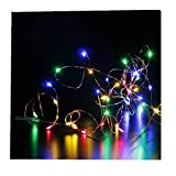 ODJOY-FAN 6 Stück 2m 20LED Dekoration Licht, Farbe Beleuchtung Zeichenfolge Batterie Sternenklar...