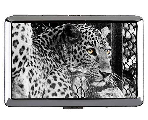 Zigarettenetui / -schachtel - Zigaretten in King-Size-Größe, Zigarettenschachtel mit Dschungelkatzen-Leoparden-Tasche