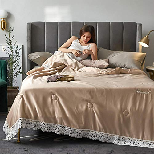 XNSY Light Quilt The air conditioner is washable summer thin quilt-Camel_150*200cm