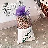 Kaxceay Flores de rosas naturales jazmín lavanda brote seco flor bolsa bolsa de aromaterapia armario desecante sachet coche habitación refrescante, 2 piezas (color : jazmín)