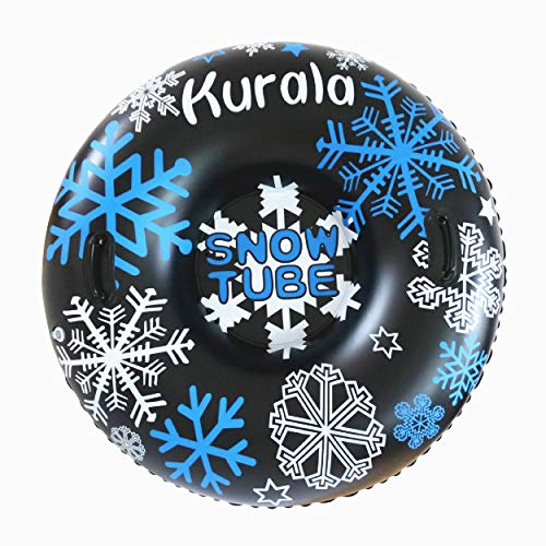 Kurala 47 Inches Inflatable Snow Tube with Handles for Sledding Heavy Duty Winter Toy for Kids Adults