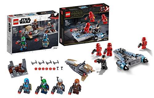 Legoo Lego Star Wars 75267 - Juego de batalla de mandaloriano + 75266 Sith Troopers Battle Pack (a partir de 6 años)