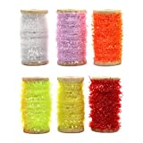 YZD Chenille Line Fly Tying Material Crystal Flash Line for Nymph Bugs Scud Fly Thread Supplies Thread Fly Fishing Fly Tieing Materials kit Flies Making Fly Tying Chenille Wire
