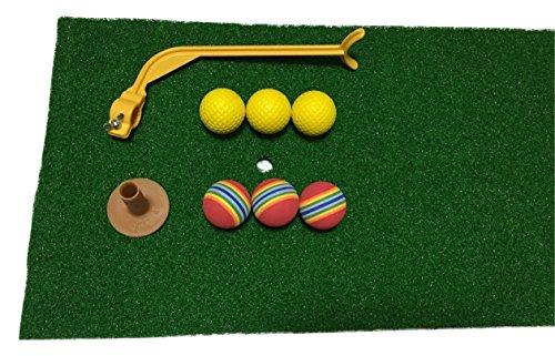『Discover winds ゴルフ練習用マット スイング軌道矯正ガイド 練習用ボール2種類 ゴム製ティー セット』のトップ画像