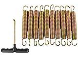 MALATEC Trampolin Federn 145mm; 135mm;165mm Set 10 Stück Stark Langlebig Edelstahl Leichtgewicht...
