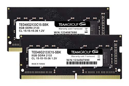 Team ノートPC用 SO-DIMM DDR4 2133MHz PC4-17000 8GBx2枚組 16GBkit 無期限保証