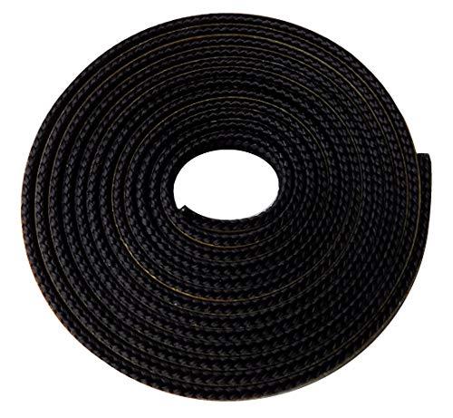 Scheibendichtung für Fireplace Alicante Kaminöfen - Passgenaues Kaminofen Ersatzteil, Glasdichtung, Länge 2 m, Flachdichtung, 8 x 2 mm