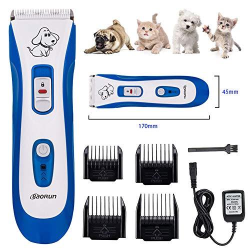 Professionele hondentondeuse, Oplaadbare tondeuse voor huisdieren, Geluidsarm voor snoerloos elektrisch trimmen, Scheerapparaat voor honden, katten en andere dieren, Waterdicht