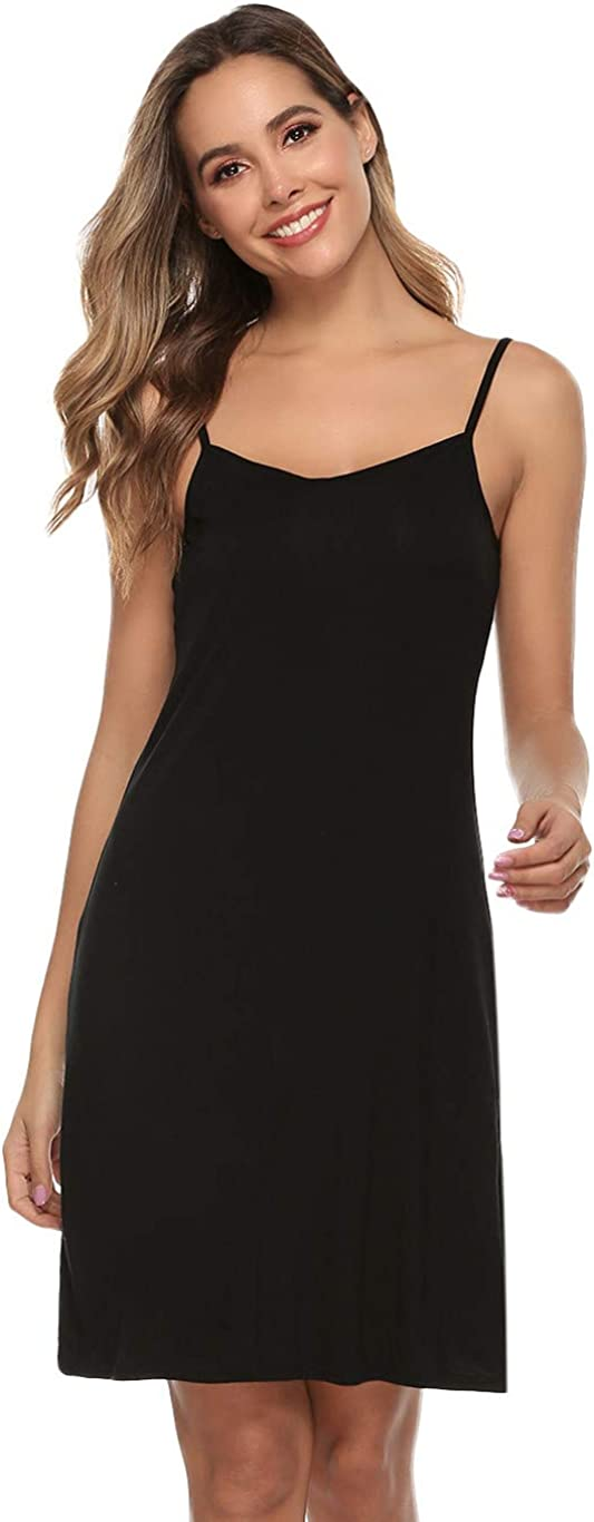 Vlazom Women Full Slips Sexy Soft Adjustable Dress Under S Basic Our shop most popular Discount is also underway