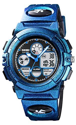 dmazing Reloj digital deportivo para niños, regalo de Navidad para niñas, Niños, azul oscuro