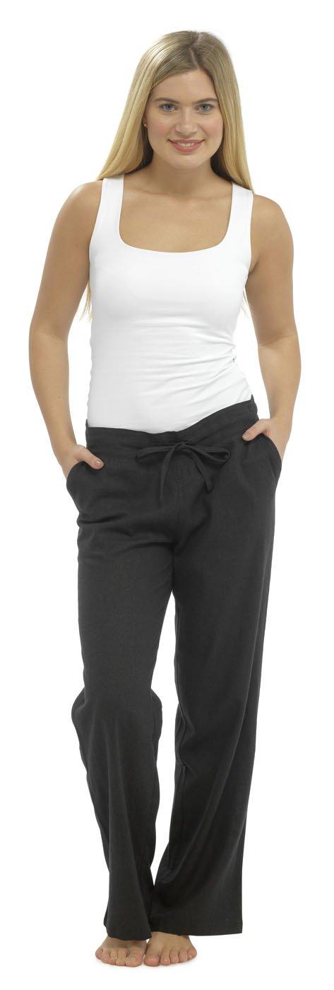 Tom Franks Ladies Linen Blend Full Length Trousers