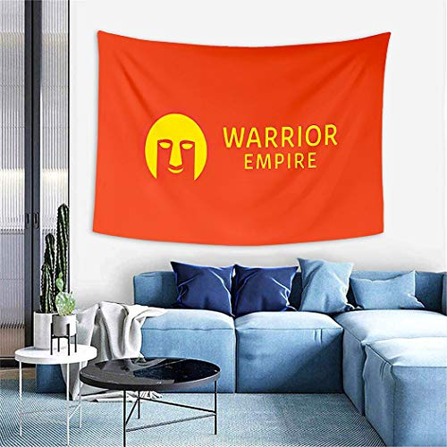 Roman Empire Flag Tapestry,Warrior Empire Logo Design Vector Silhouette Armor Symbol And Gladiator Icon Fo,Wall Hanging Wall Decor Blanket for Bedrooms Living Room Tablecloth Dorm Home Decor - 60'x80'