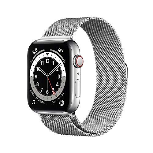 AppleWatch Series6 (GPS+Cellular, 44 mm) Caja de Acero Inoxidable en Plata - Pulsera Milanese Loop en Plata