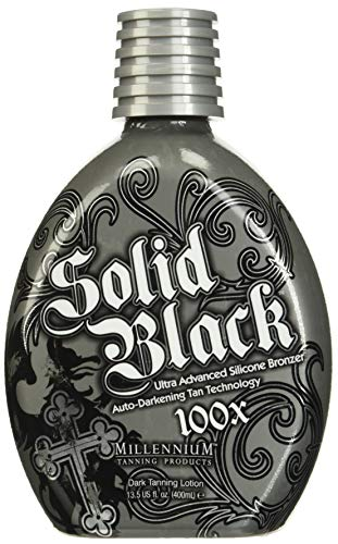 Millenium Tanning 2 Piece Millennium Solid 100X Indoor Dark Bronzing Lotion Tanning Bed, Black, 13.5 Oz each. by Millennium Tanning Products