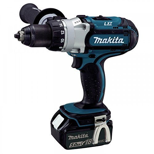 Makita DDF451RMJ 3-Speed 18V / 4.0 Ah Cordless Drill/Driver, in MAKPAC Box with 2 Batteries and 1 Charger, DDF451RTJ 0 Watt, 18 Volts V