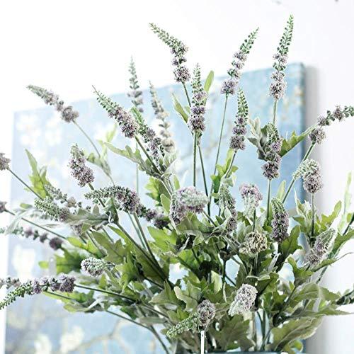 BXQ Provence lavendel decoratieve plastic Salie kunstbloemen planten herfst thuis bruiloft decoratie plant Kranen