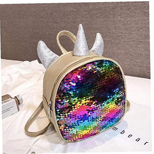PiniceCore Pu Sequined Parent-child Backpack Personalized Colorful Girl Children's Backpack