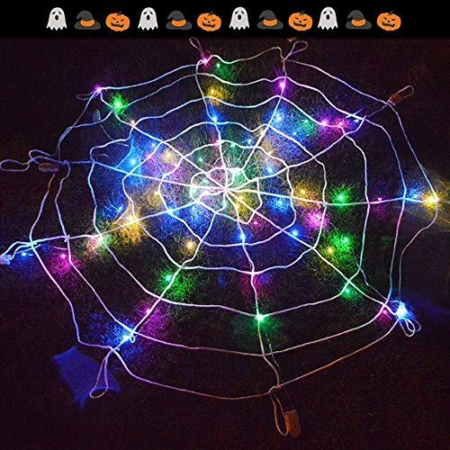 ZHI BEI Xxmk Decoración de Halloween - LED Araña Halloween Party Creativo Web de la casa encantada de Bricolaje decoración Decoración de Halloween de Miedo