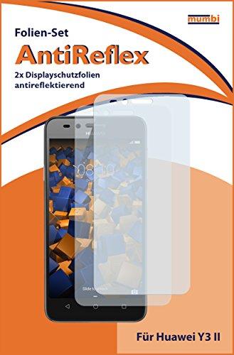 mumbi Schutzfolie kompatibel mit Huawei Y3 II Folie matt, Displayschutzfolie (2X) - 2
