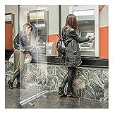 HLMBQ Mampara Protectora mostrador Divisor para oficinas Transparente,Plegable portátil Biombo Escudo Pantalla Separación,60x160cm Hosteleria fábricas Barbero