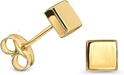 Miore Pendientes Cuadrados de Oro Amarillo de 9K para Mujer