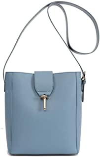 FengheYQ Simple Multi-Function Shoulder Bag Shoulder Slung Leather Handbag Size: 26 * 12 * 23 cm (Color : Blue)
