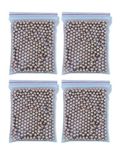 Outletdelocio. Pack 4 bolsas de 500 Bolas metálicas acero BB Golden Ball 4,5 mm 0,37 g (Total 2000 bolas)