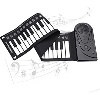 Anyutai Piano Electrico Teclado Piano Enrollable Piano Portatil Enrollable 49 Teclas Con Bocina Enrollada Plegable Portátil Seguro Y Duradero Con Altavoces Carga Usb Para Niños Principiantes Pianos Y Teclados Educators Pianos Digitales