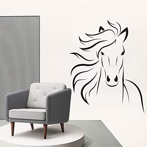 yaonuli schattige muurstickers, paard, wandtattoo, vinyl, zelfklevend, voor kinderkamer, paard, woonkamer, behang