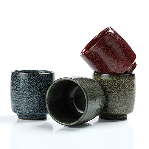 TEANAGOO TC06, Keramik Japan Teetasse, 175 ml, Tenmoku, Mehrfarbig, 4 Stück/Box