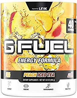 G Fuel Peach Iced Tea Tub (40 Servings) Elite Energy and Endurance Formula
