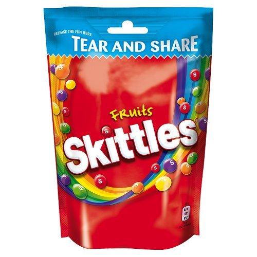 Skittles Fruits Kaudragees mit saurem Fruchtgeschmack 160g (1er Pack)