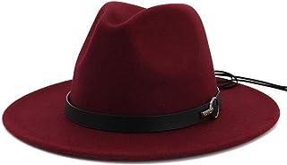 SHENTIANWEI 2019 Winter Autumn Imitation Woolen Hats Women Men Ladies Top Jazz Hat Sombrero Fedora Panama Jazz Hat Black Ribbon