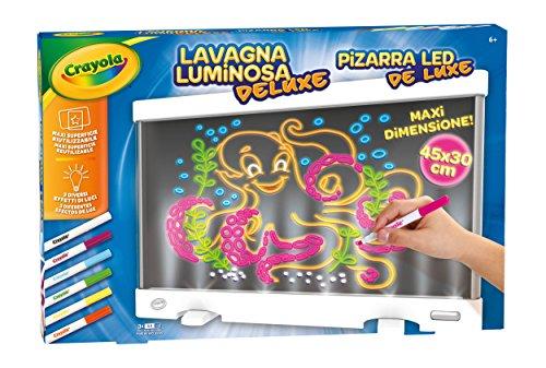 Crayola- Lavagna Luminosa Deluxe Pizarra Led, Multicolor (25-7246) , color/modelo surtido