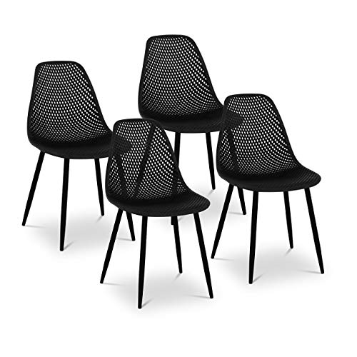 Fromm & Starck Sedie In Polipropilene Set Da 4 Sedie Moderne STAR_SEAT_13 (150 kg, Set da 2, 52 x 46,5 cm)