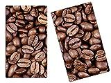 Herdabdeckplatten, Schneidebrett aus Glas, Kaffeebohnen Kaffee HA656215555 Variante 2er Set (2 Panels)