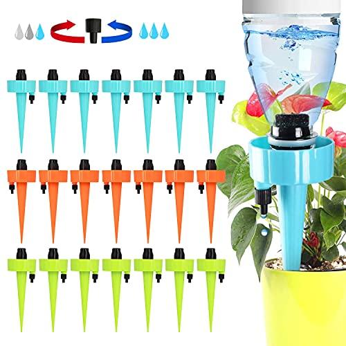 XUEEU Irrigazione A Goccia, 21 Pz Irrigazione Goccia Automatica, Pezzi Irrigazione A Goccia con Interruttore della Valvola di Controllo, Irrigazione A Goccia per Vasi per Piante da Interno Ed Esterno