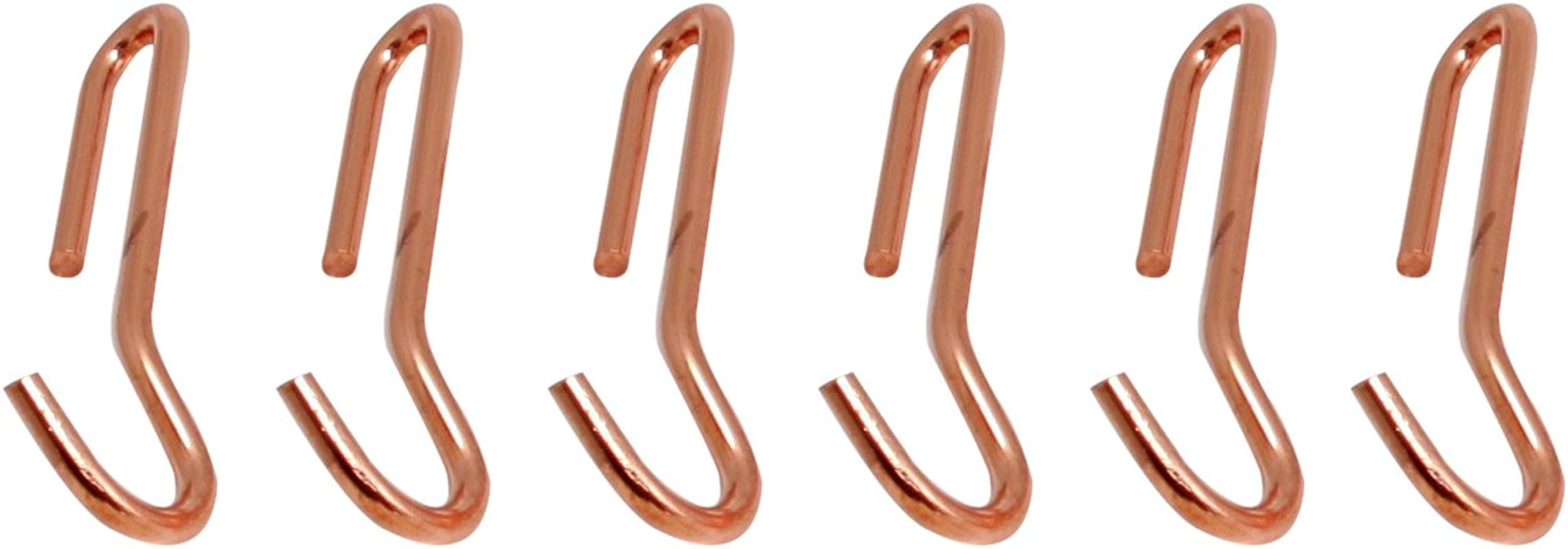 Enclume Angled Pot Hook Set Of 6 Use With Pot Racks Copper Plated
