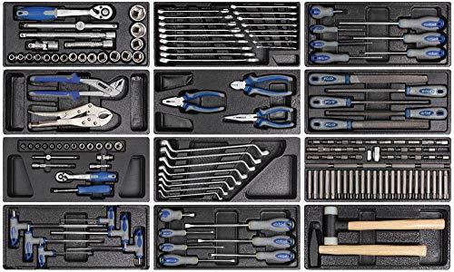 Erba, 14229, Werkzeugset 158tlg. für Werkstattwagen