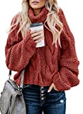 Dokotoo Women Casual Turtleneck Winter Long Sleeve Sweaters Pullover Outerwear