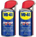 WD-40 - Produit Multifonction - Spray Double Position - Sans Silicone - Non Conducteur - Compatible Plastiques, Caoutchoucs, Tous Métaux - 250 ML - Lot de 2 brun